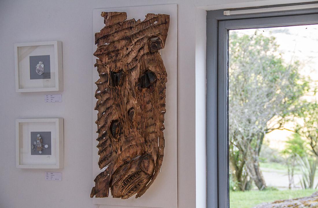 Calgary, Isle of Mull, Art Gallery wood sculpture